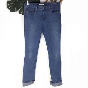 Levi's 714 Straight Leg Blue Jeans Size 31